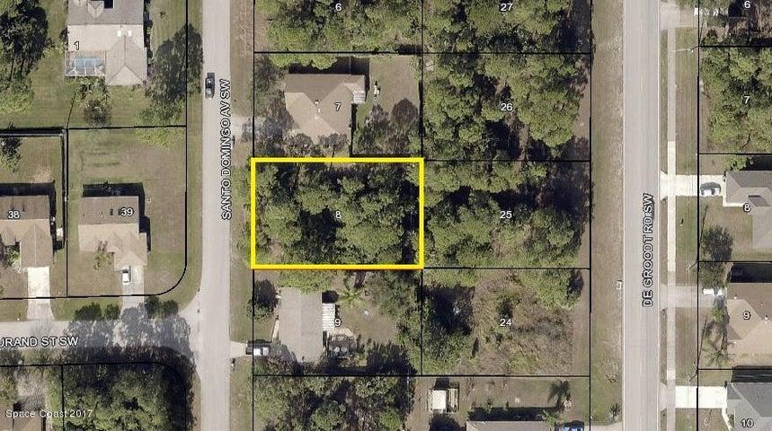 837 Santo Domingo Ave SW Palm Bay, FL .23 Acre / 80x125 / Close to Bayside Lakes & Bayside High School