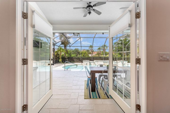 French Doors to Pool!