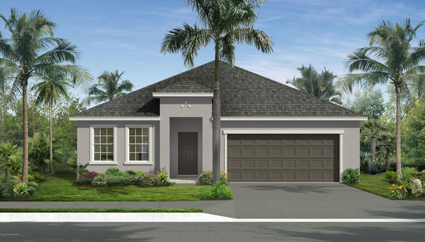 Rendering, not actual home. Traditional elevation shown.