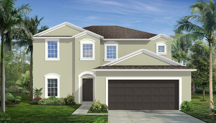 """Rendering of a """"Traditional"""" elevation. Not actual home."""