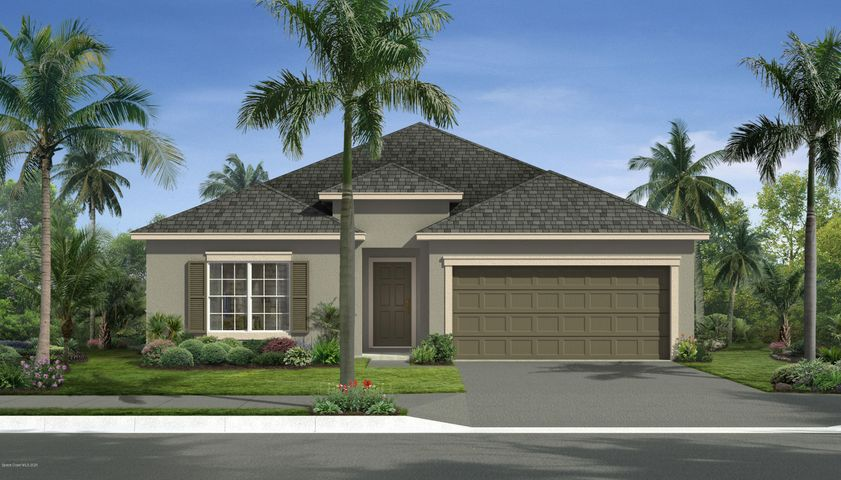 Rendering, not actual home. Traditional elevation.