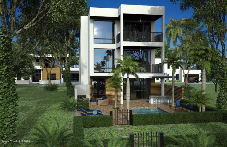 Villa comes with a boat slip! Banana River community and beach access across the street....gated luxury lifestyle!