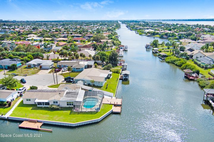 Home sits on corner with frontage on Grand Canal and Side Canal!