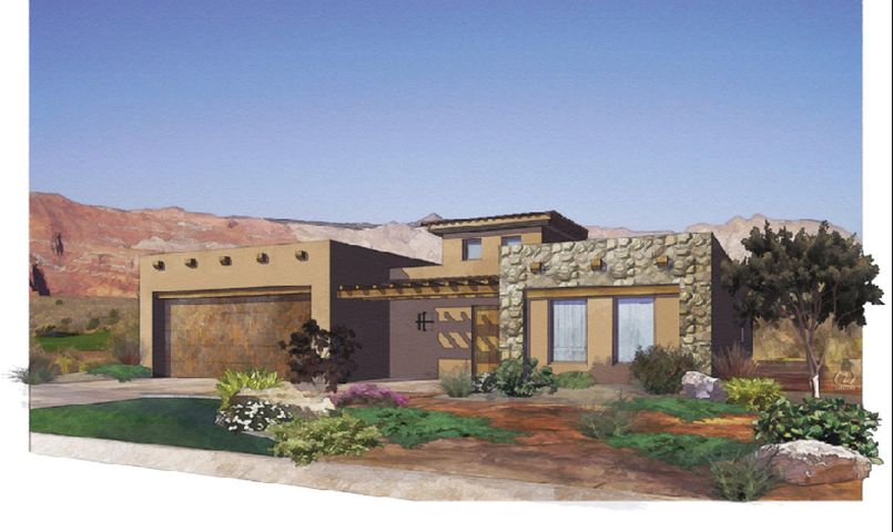 3 Bedrooms and 2 1.2 bathrooms. Lot on the Ledges golf course.