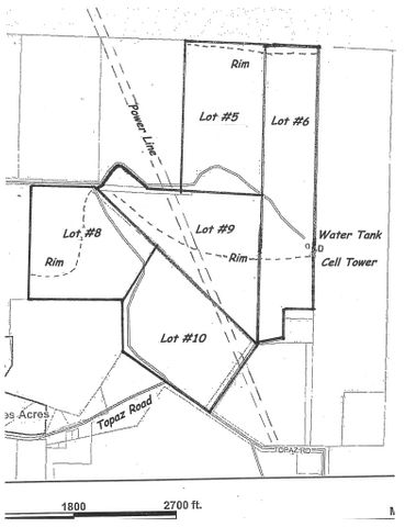 20 Acres Topaz Rd in Diamond Valley, St George UT 84770