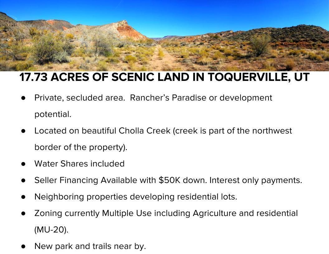 1773 Acres, Toquerville UT 84774