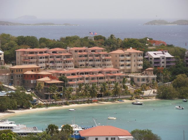 Arial of beachfront location