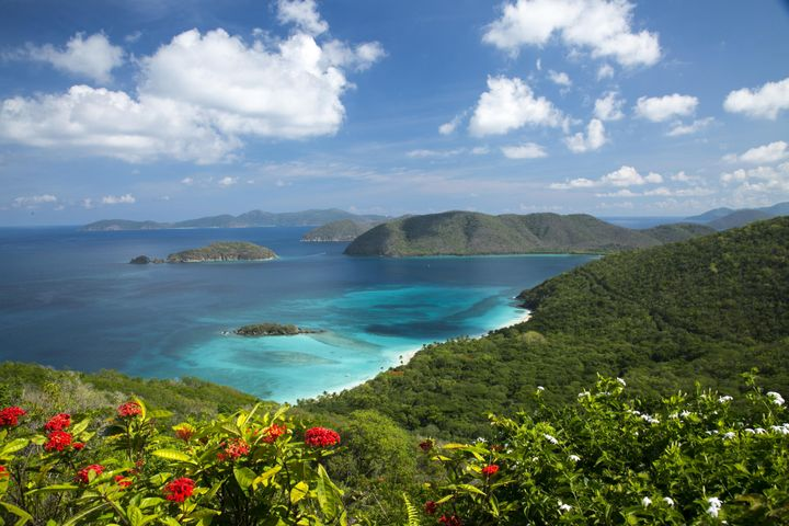 Views of North Shore and BVI. Not a neighbor in sight.
