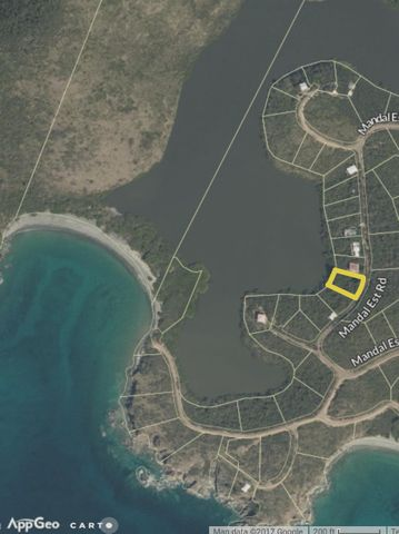Least expensive waterfront lot on St. John