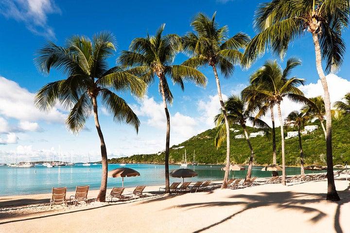 The Westin St John Resort's beautiful beachfront setting