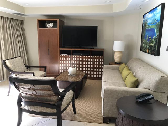 Comfortable living room with new furnishings. Photo of actual unit 4314.
