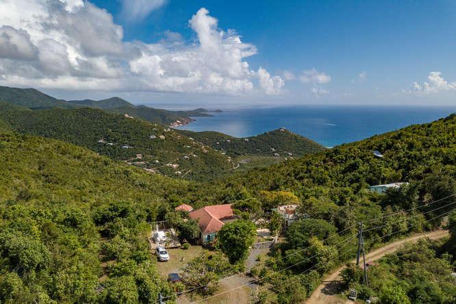 Stunning down island views