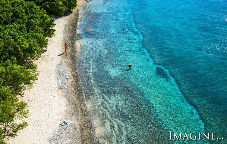 Rare white sandy beachfront property on Ditleff Point