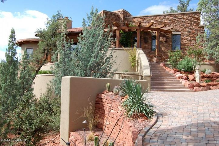 The entire home is visually and physically woven into the Sedona landscape.