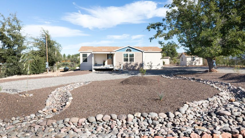 Front of home landscaped
