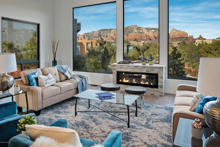 Living Room with Magnificent Red Rock views