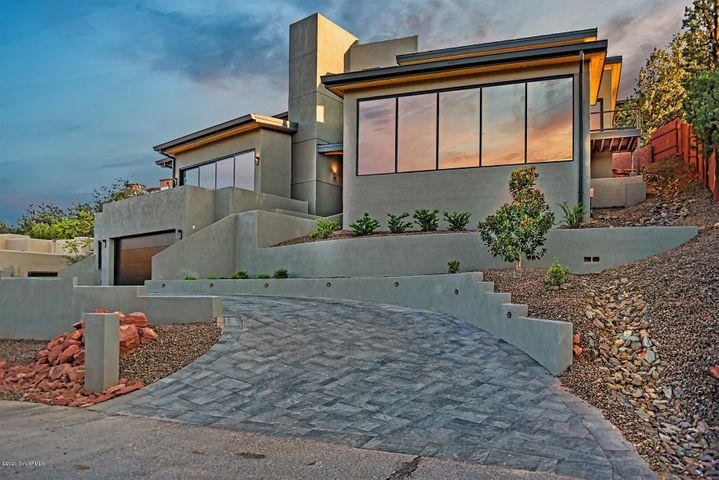From the street .. modern contemporary ... like no other in Sedona