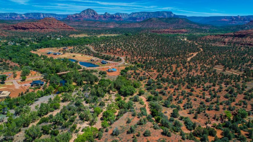 Aerial view of Sedona Ranch community
