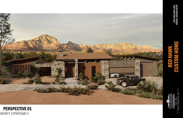 2945 Red Hawk Lane -Conceptual Rendering of Front of Home