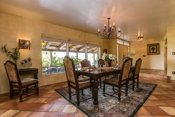 EXPANSIVE VIEWING OF THE CATALINA MOUNTAINS FROM THE DINING ROOM