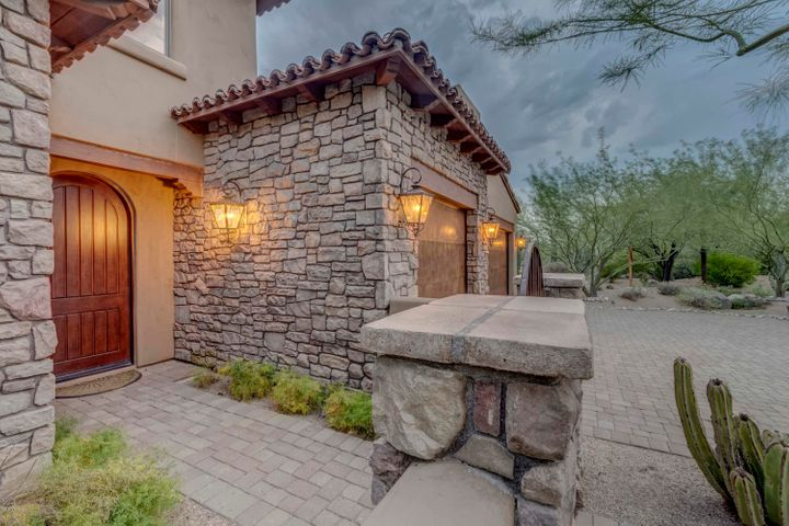 Beautiful Entrance with Stone Accents, Solid Alder