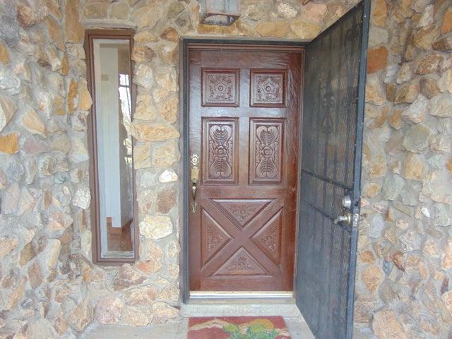 Front Entry, Solid wood decorative door.