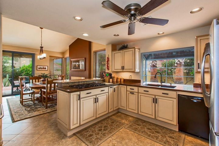 Beautifully Updated Kitchen with Granite Counters and Stainless Steel Appliances
