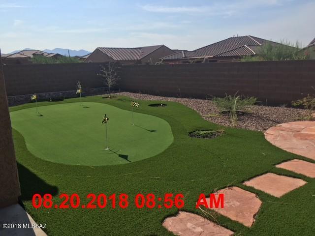 backyard and putting green