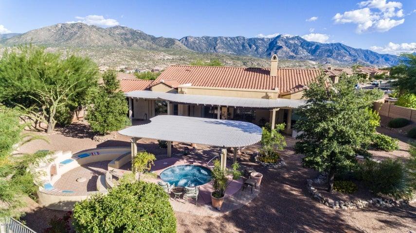 Popular semi-custom Sabino plan with bonus room and Entertainer's Dream Backyard