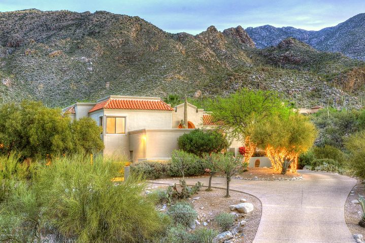Located in the prestigious community of Finisterra, looking out over all of Tucson.