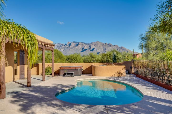 Beautiful view of the Santa Catalina Mountains from the back yard
