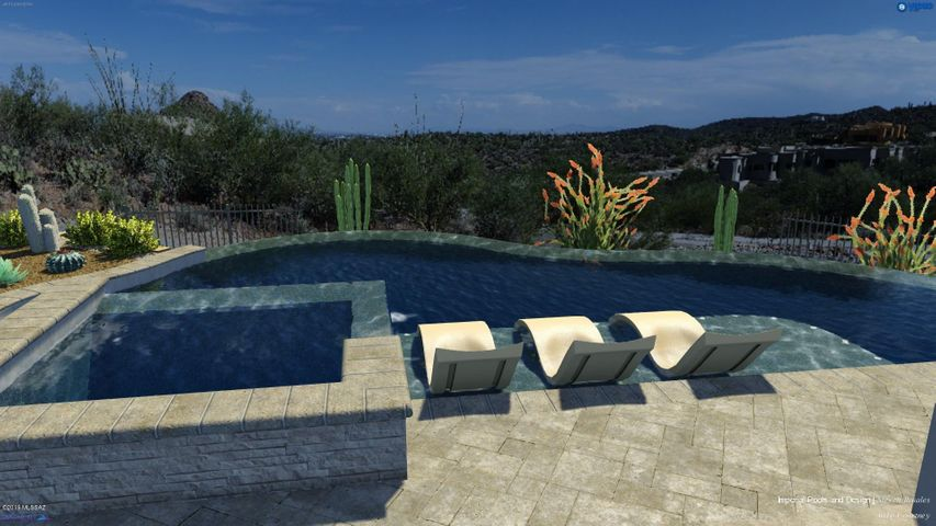 Idea of a pool design that would fit great off the Master Suite. Designed by Imperial Pools