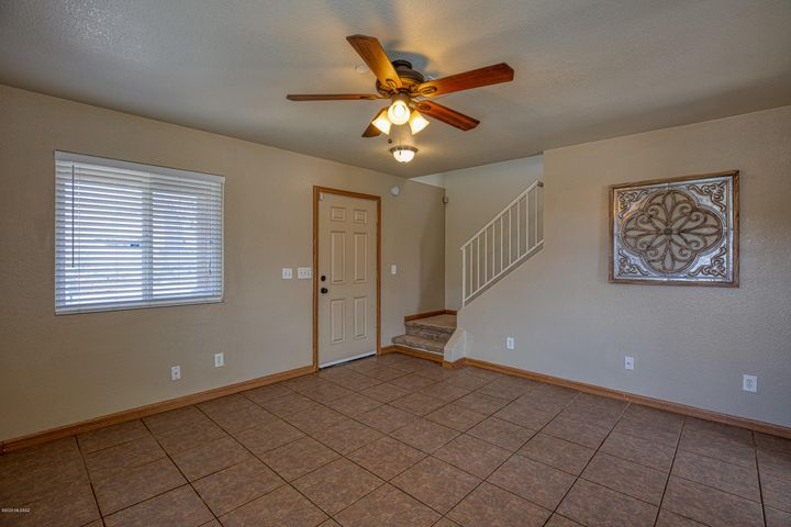 Walk through the front door to an open concept downstairs.