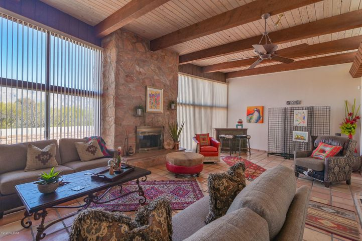 Amazing Living Room is the centerpiece of this amazing Mid-Century built home. Vibrant and inviting