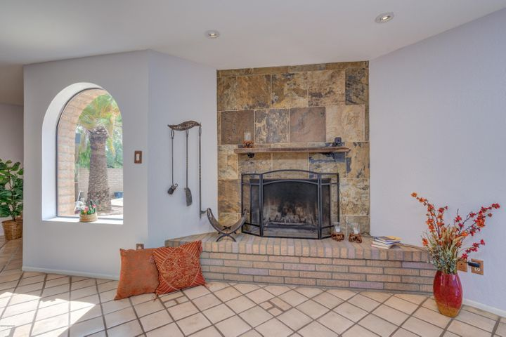 One of the 2 wood burning fireplaces. This one is in the Great Room
