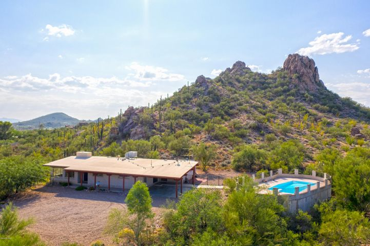 Located on over 2 acres with lots of privacy and views.