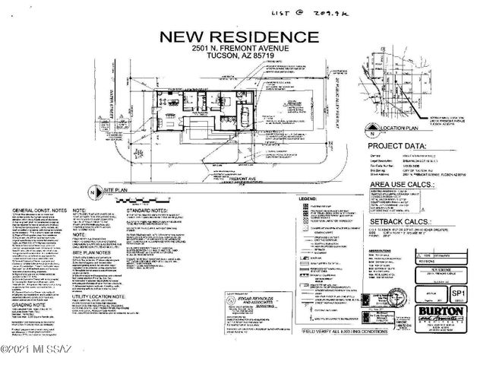 2501 N Fremont Avenue, Tucson, AZ 85719