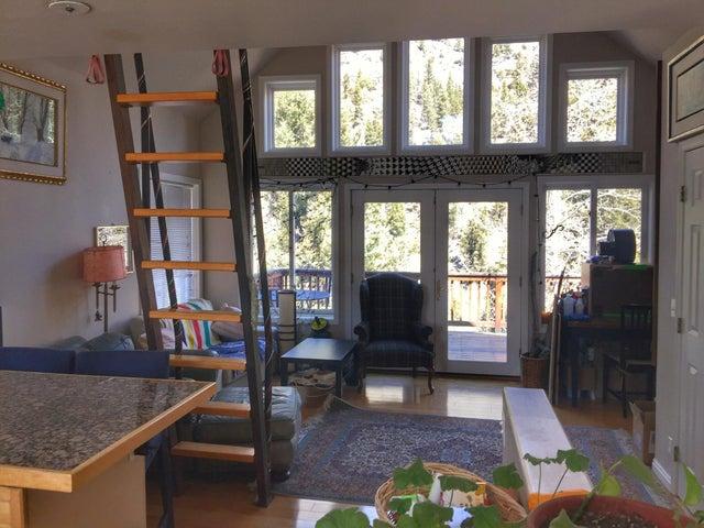 Living room looking towards deck