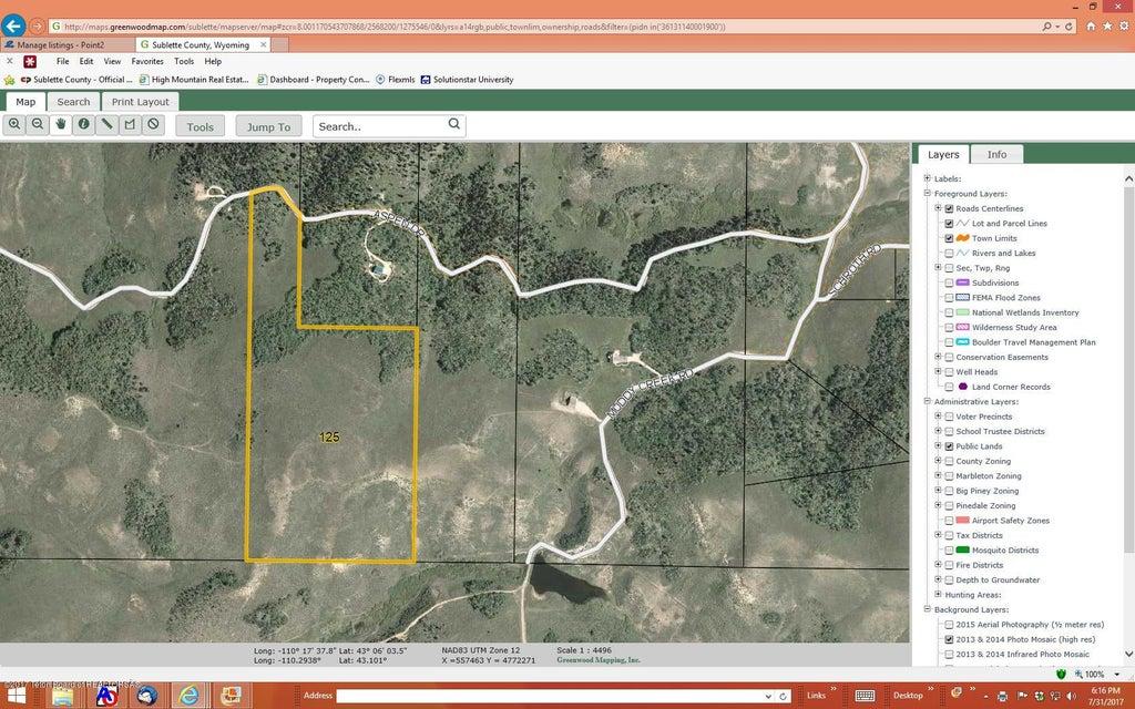 Bondurant Wyoming Map.125 Aspen Drive Bondurant Wy 82922 Mls17 2324 Land For Sale