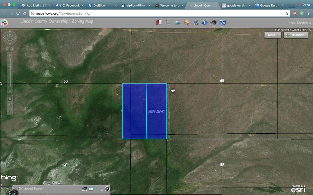 Lincoln County Wyoming Map.Land For Sale In Cokeville Wyoming 18 442