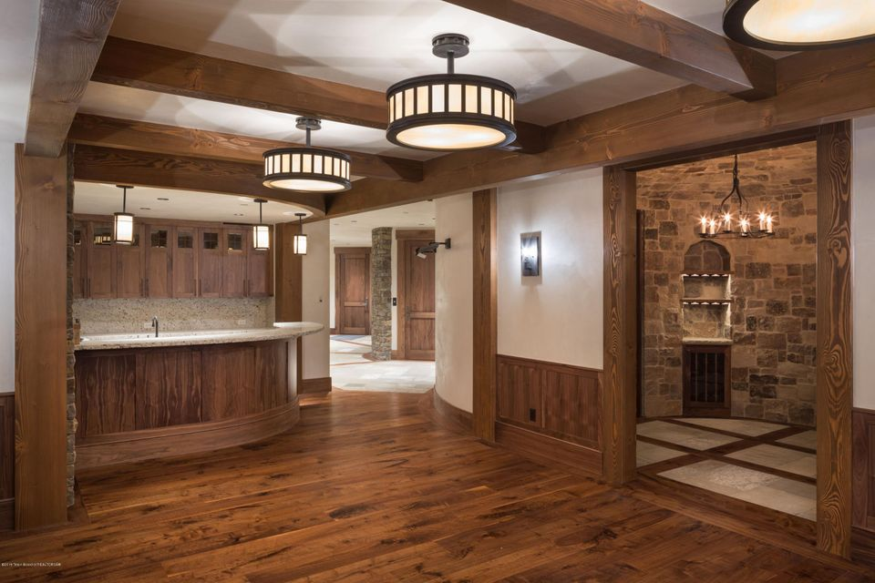 35. Downstairs bar and wine room
