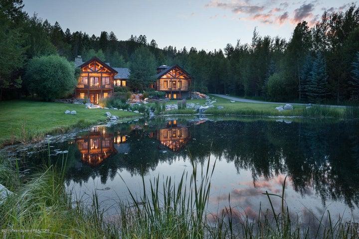 Evening Exterior over Pond