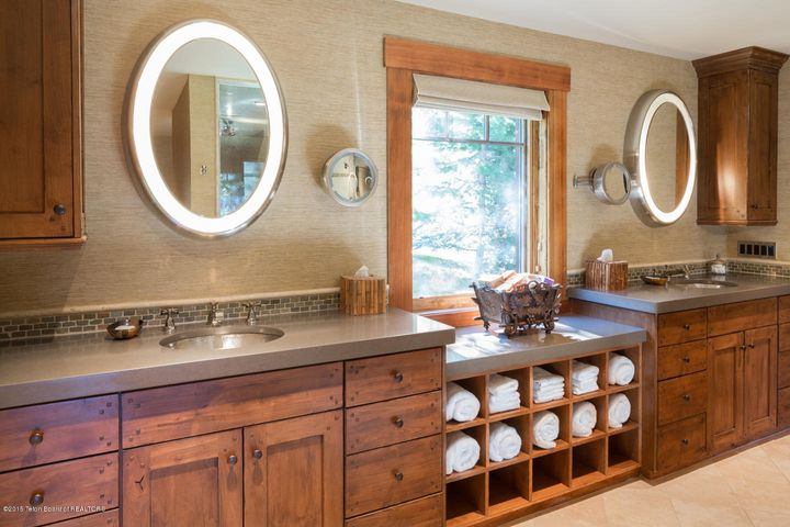 His and Hers Vanities in Master Bathroom