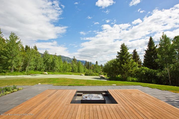 Deck and Firepit with Teton Views