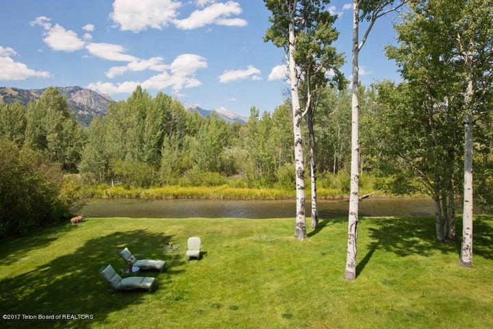 14 Lawn, Lake Creek + Tetons
