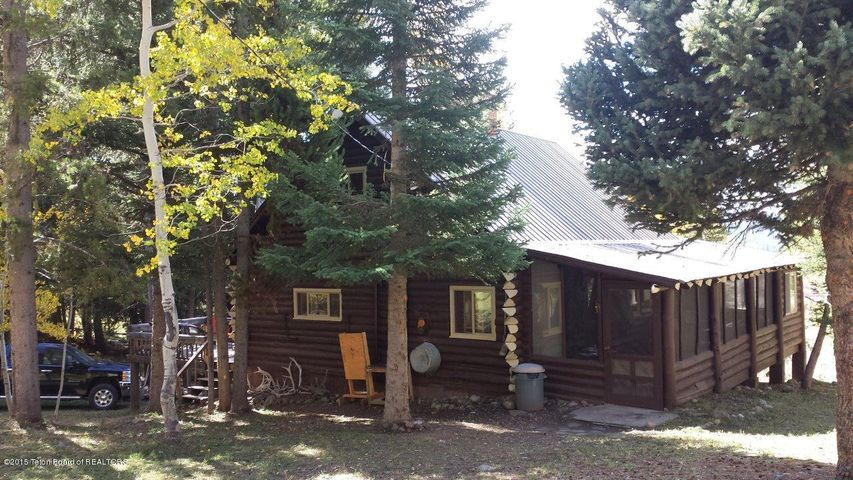 Back of Cabin & screened porch