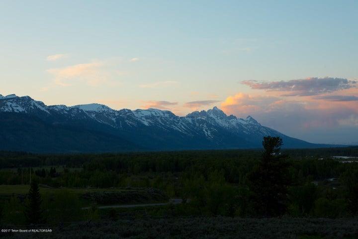 Dusk Teton Range + Pink Sky
