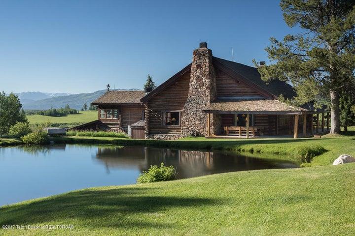 Lodge over Pond