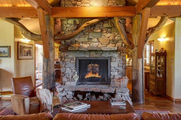 Pass Through Fireplace