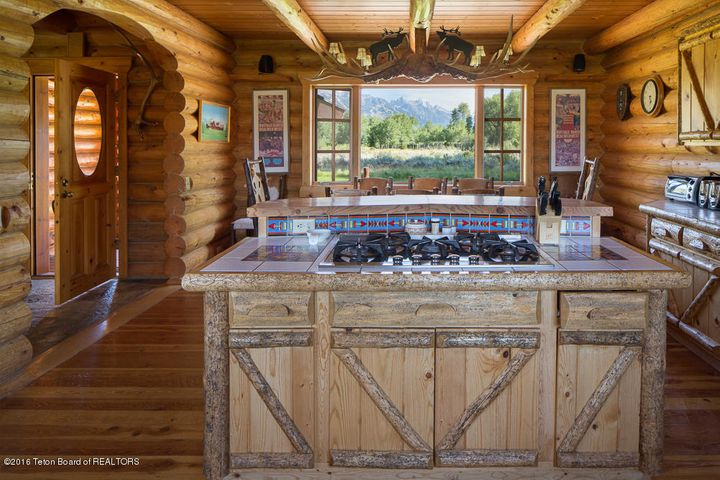 Kitchen and Dining with Teton Views